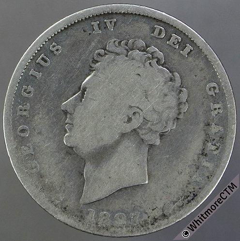 1827 British Shilling George IV 1/-