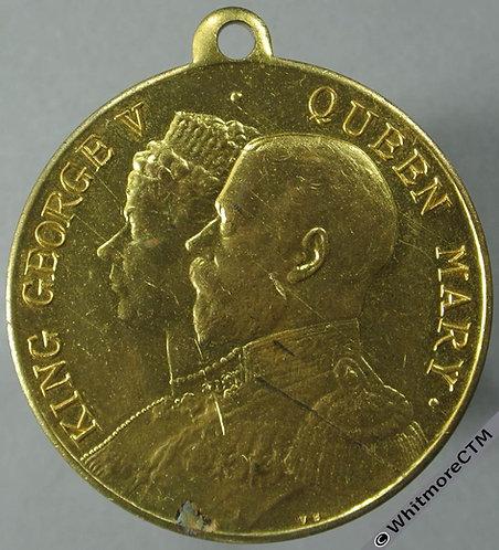 Denbigh 1935 Silver Jubilee of King George V Medal 32mm by Vaughton. Gilt brass