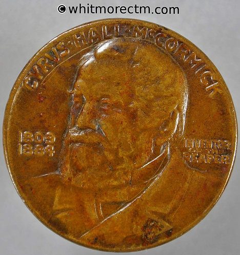 1931 USA Centennial of the Reaping machine Medallion 34mm Cyrus McCormick