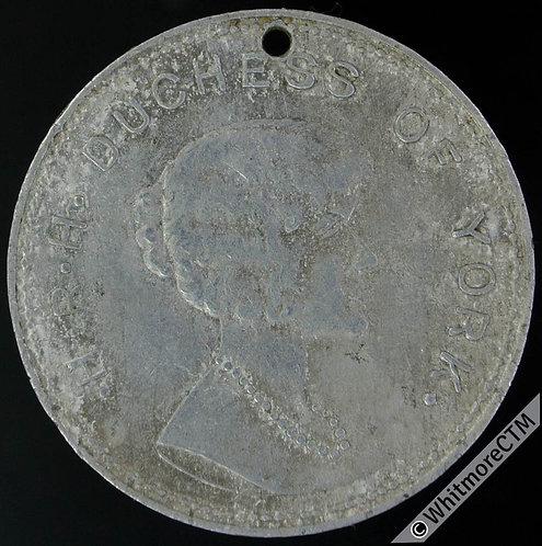 1923 Marriage of HRH The Duchess of York Elizabeth Medal 26mm WE5555 Aluminium