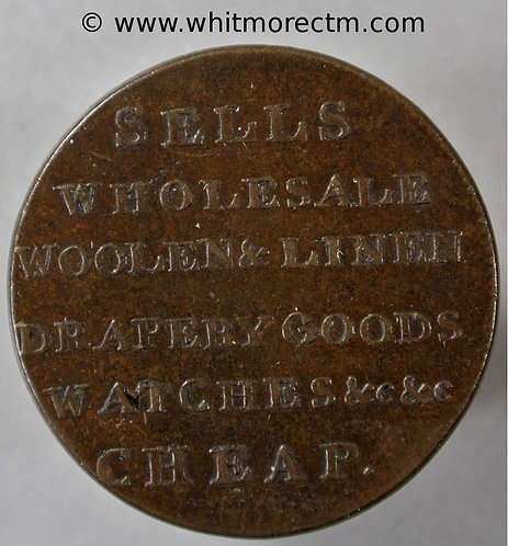18th Century Halfpenny Dundee 15 W. Crooms - Plain edge
