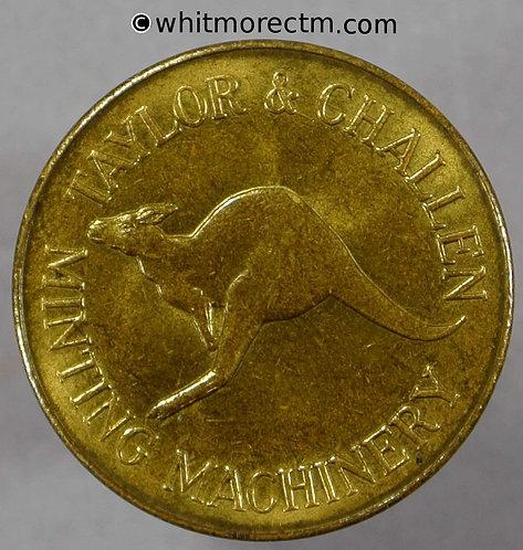 Mints Token Manufacturers Birmingham 20mm 1964 Taylor & Challen Kangaroo Lion - obv