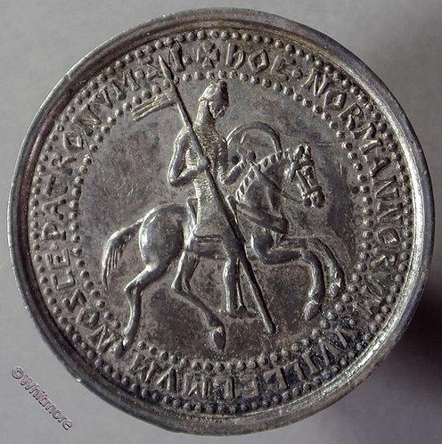 1880 France Society Des Antiquaires De Normandie Medallion 32mm White metal