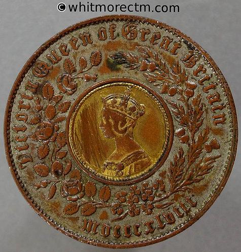 Hyam's Model Gothic Crown 206 1848 Legends closer.Silvered annulus, gilt insert