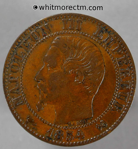 1854 France 5 Centimes coin 1854B