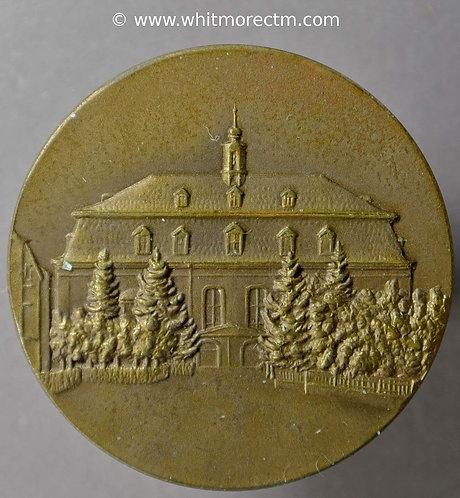 1929 Germany Moravian Medallion 33mm colony of Herrnhut gains municipal status