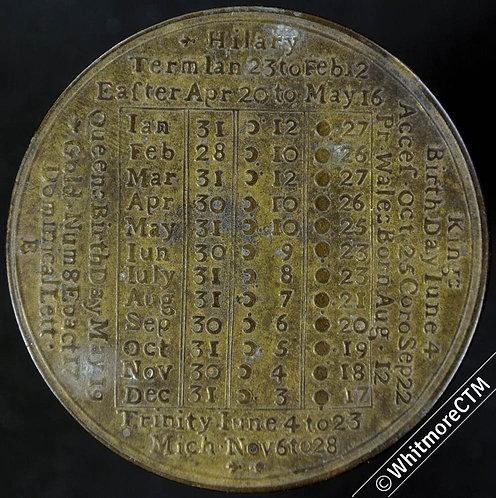 Calendar 1774 By John Powell Birmingham 39mm - Brass