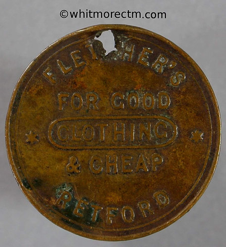 Unofficial Farthing Retford 4435 Fletchers Good & cheap Clothing. Extremely Rare