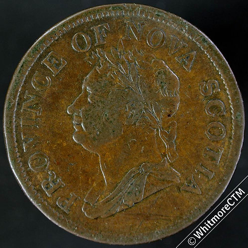 1832 Canada Nova Scotia Counterfeit Penny - George IV