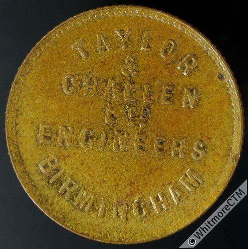 Mints Token Birmingham Taylor & Challen Ltd. Engineers 21mm. Bronze - 10% Luster