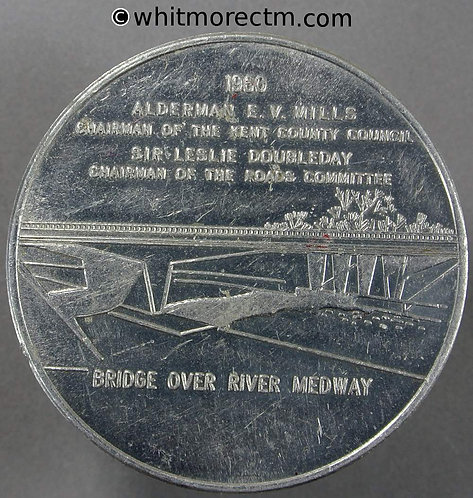Maidstone 1960 Opening of By-Pass Medal 51mm Bridges Presented by Kent Messenger
