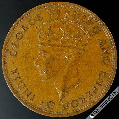 1944 British Honduras 1 Cent Y16