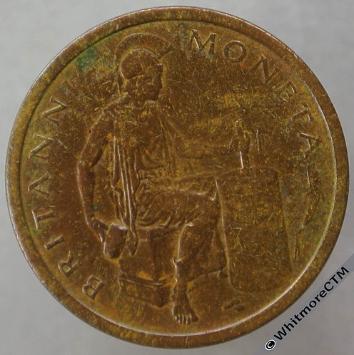 Royal Mint trial Strike die Britannia Moneta 21mm Cincinnati Salesman - Bronze
