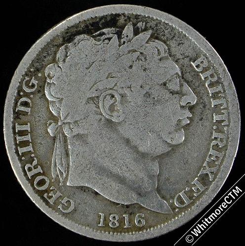 1816 British Sixpence George III