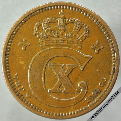 1914 Denmark 5 Ǿre obv - Y30