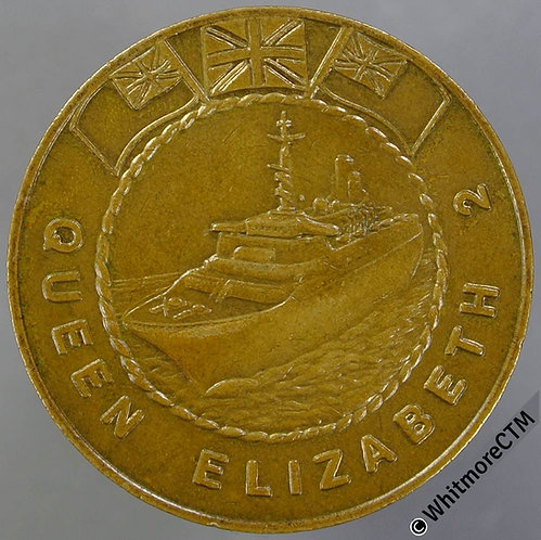 Queen Elizabeth II Cruise Ship $1 Mayfair Maritime Token 31mm Bronze