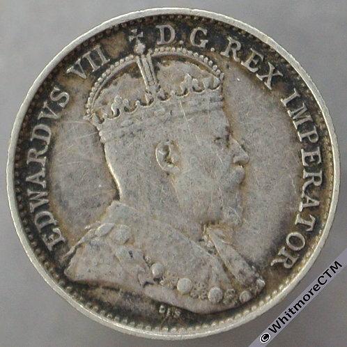 1908 Canada Five Cents - Silver