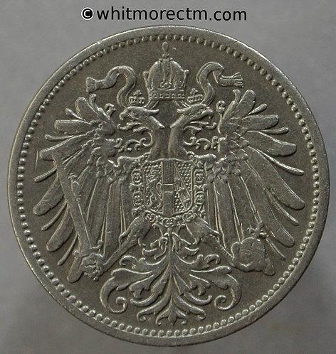 1907 Austria 20 Heller