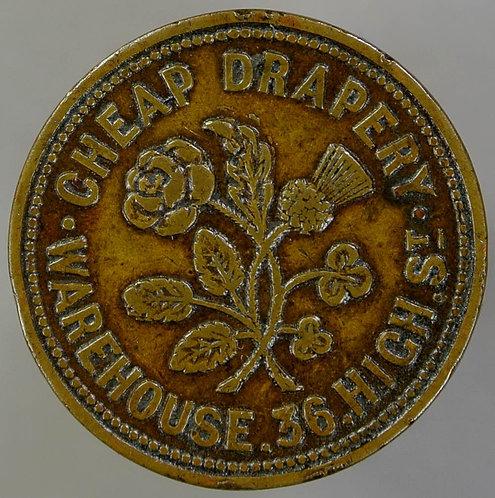Unofficial Farthing Belfast 5560 McKenzie & Mcmullen Scotch House. Brass