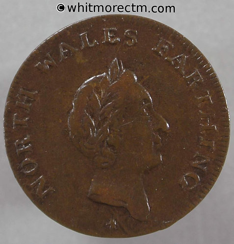 18th Century Farthing North Wales 22 1795 Laureate bust- Small flan. - Rare