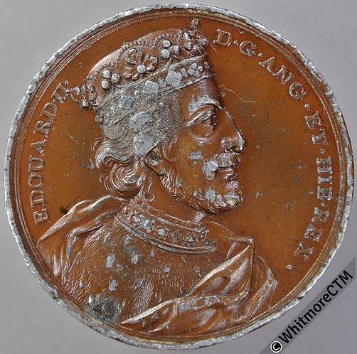 Kings of England Series Medal 41mm Edward II Dassier restrike. Bronzed W.M