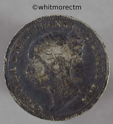1874 Victoria Young head Silver 3d Threepence