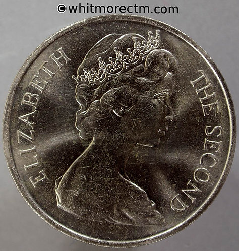 1970 Isle of Man 25 Pence Y1 Manx Cat One Crown obv