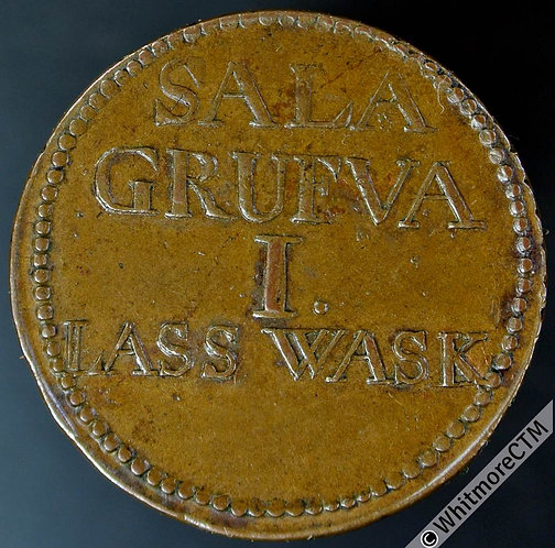 Sweden Token 26mm Sala Grufva  1 Lass Wask - Uniface copper