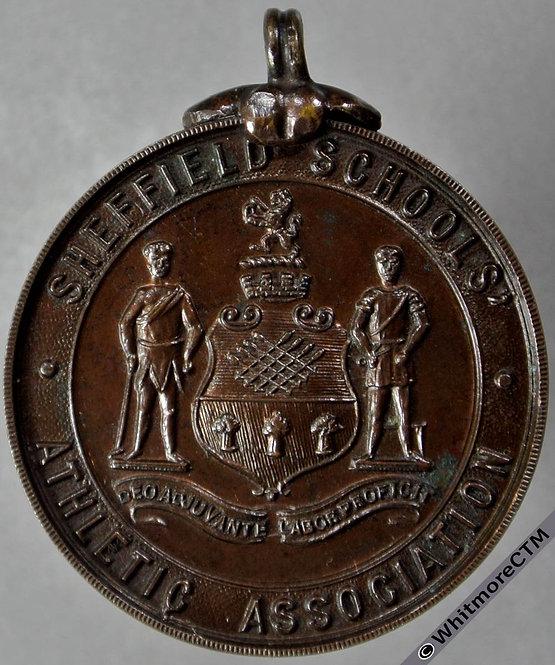 Sheffield 1915 Schools Athletic Association Cricket Medal 29mm Bronze