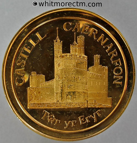 Caernarvon 1975 European Architectural Heritage Year Medal 44mm View of castle