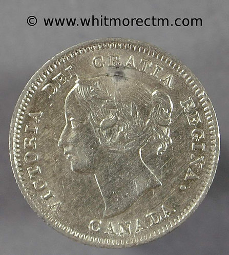 1900 Canada Five Cents coin Oval O's