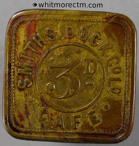 Middlesbrough refreshment Token 23mm Smiths Dock Co. Ltd. Cafe 3D Uniface square