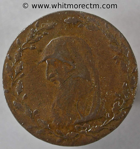 18th Century Halfpenny Anglesey 442 1791 Druids head - Paris Miners
