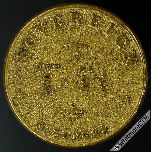 Coin Weight 23mm W2277a Sovereign Dwt Gr 5 2½  J.Tongue - Very rare. Uniface