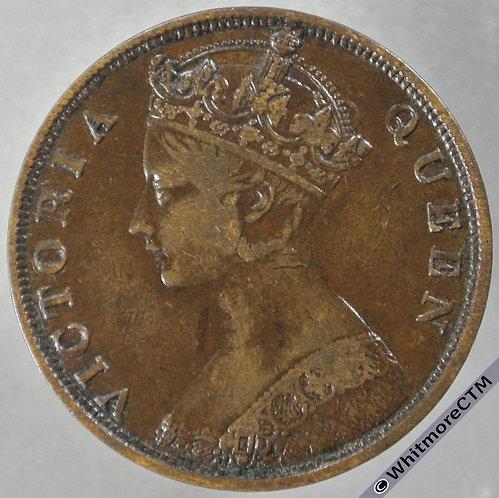 1863 Hong Kong 1 Cent Y2 obv