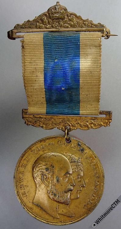 1902 Edward VII Coronation Medal 45mm WE4500A - Gilt White Metal