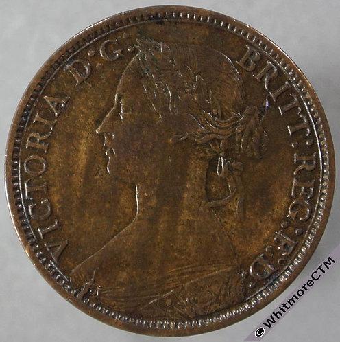 1866 British Bronze Farthing Victoria