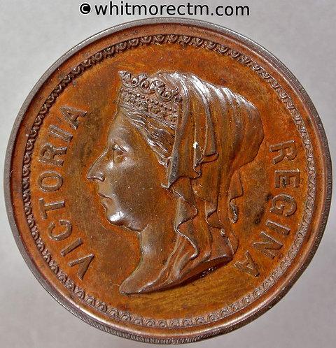 1887 Golden Jubilee Queen Victoria Medal 38mm B3242 by Carter.- Bronze