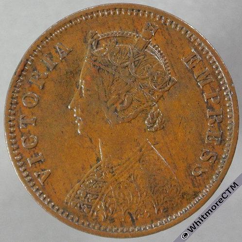 1889B India Quarter Anna S&W 6.510 - obv