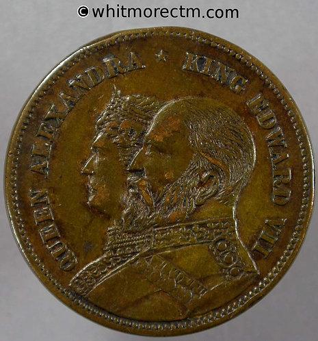 1902 Coronation Medal obv Edward VII & Alexandria 31mm WE4380
