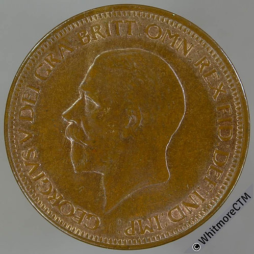 1930 Bronze Halfpenny George V - 20% Luster