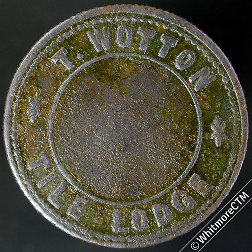 Advertising Token Sturry Kent T.Wotton Tile Lodge / Circles Only - Bronze 26mm