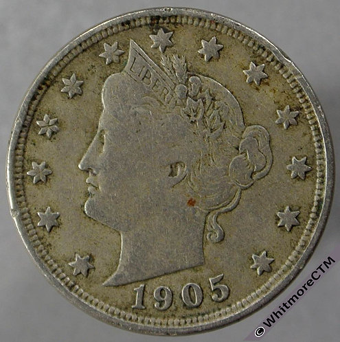 1905 USA 5 Cent Liberty Nickel obv