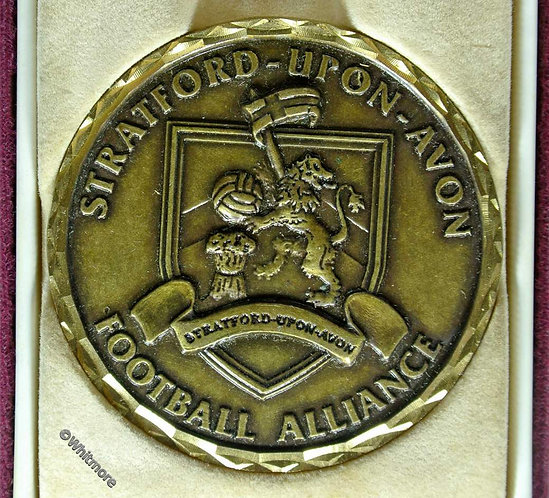Stratford upon Avon 2001 Football Alliance Medal 57mm Alun Rees Trophy cased