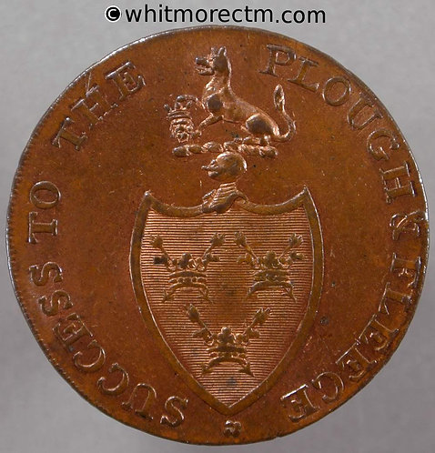 18th Century Halfpenny Bury St.Edmunds 26 - PD cypher P Decks edge 40% Luster