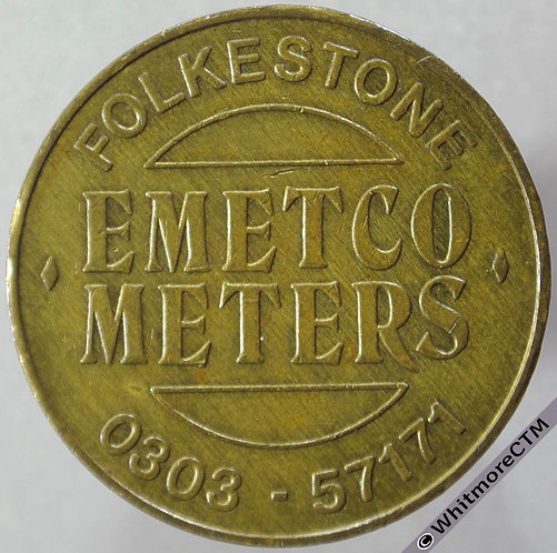 Miscellaneous Token Folkestone Emetco Meters 30mm Hayes 135c. Brass.