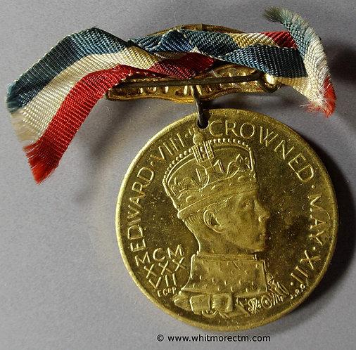1937 Intended Coronation Medal obv 36mm Edward VIII (216) Coronation Hospital Fund