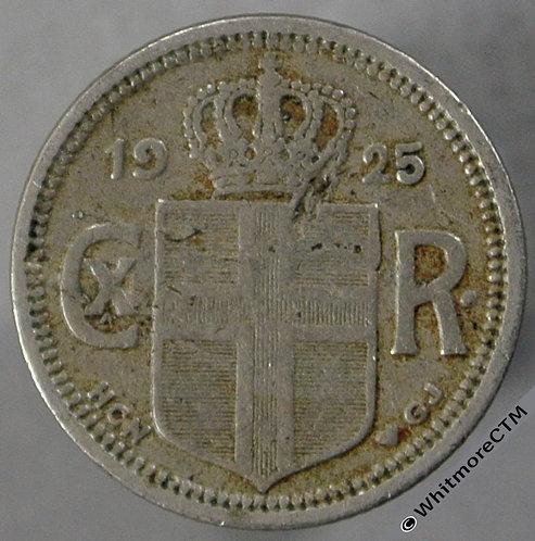 1925 Iceland 10 Aurar obv
