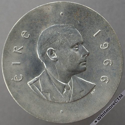 1966 Ireland (independent) Ten Shilling 10/- Silver