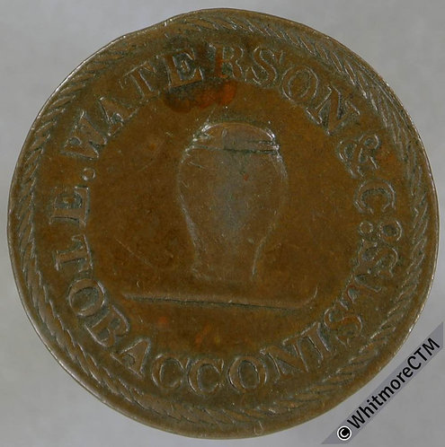 18th Century Farthing Glasgow 50 Waterson & Co. Tobacconists Snuff 193 Trongate